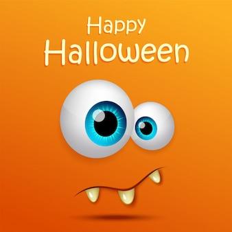 Fond de bannière halloween heureux