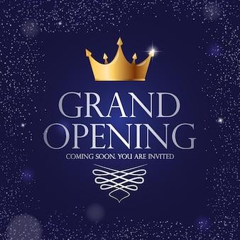 Fond de bannière d'invitation de luxe grande ouverture