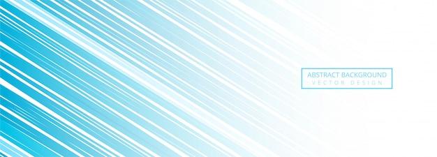 Fond de bannière de lignes bleues modernes
