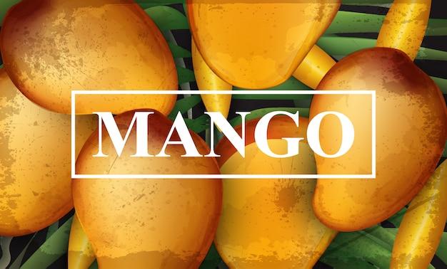 Fond de bannière de mangue