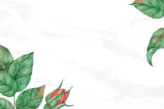 Fond de bannière de médias sociaux de cadre de bordure rose rouge en fleurs