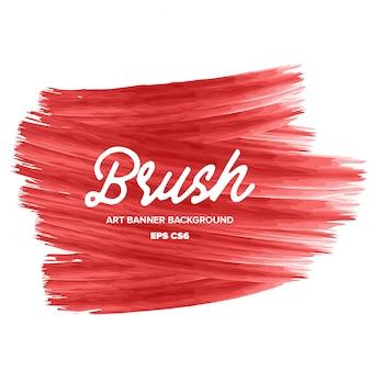 Fond de bannière moderne art blush