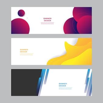 Fond de bannière moderne bleu rouge jaune vert. modèle de fond de modèle de bannière de conception graphique abstraite de vecteur.