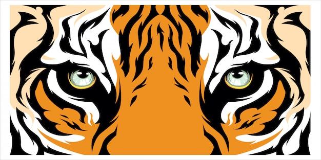 Fond de bannière oeil de tigre
