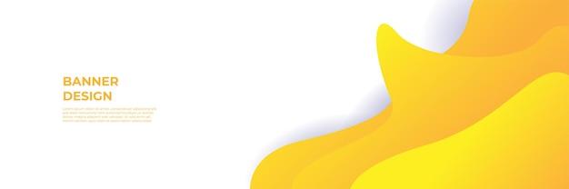 Fond de bannière orange jaune moderne. modèle de fond de modèle de bannière de conception graphique abstraite de vecteur.