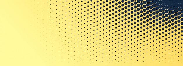 Fond de bannière en pointillé abstrait noir et or