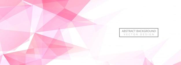 Fond de bannière de polygone abstrait