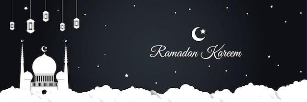 Fond de bannière ramadan kareem eid