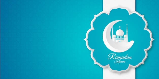 Fond de bannière de ramadan