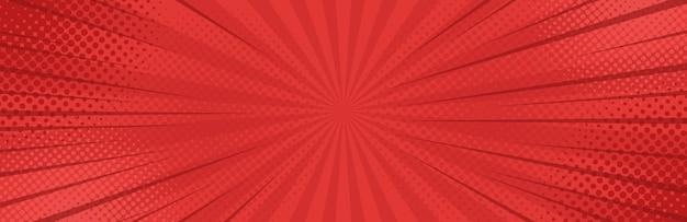 Fond de bannière rouge pop art vintage.
