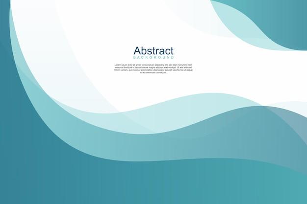 Fond de bannière de style ondulé bleu dégradé abstrait. illustration vectorielle.