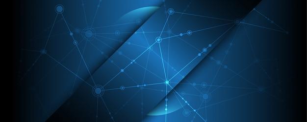 Fond de bannière de technologie abstraite