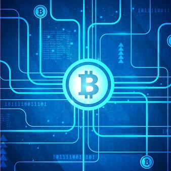 Fond de bannière de technologie bitcoin