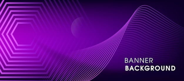 Fond de bannière de technologie violet