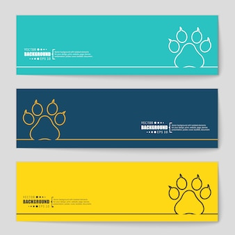 Fond de bannière vecteur concept créatif.