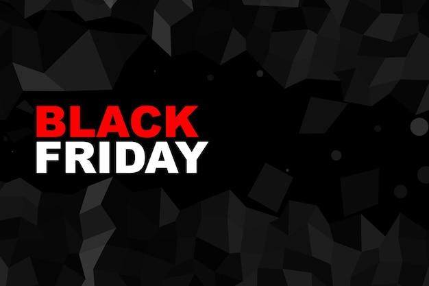 Fond de bannière de vendredi noir avec un style low poly
