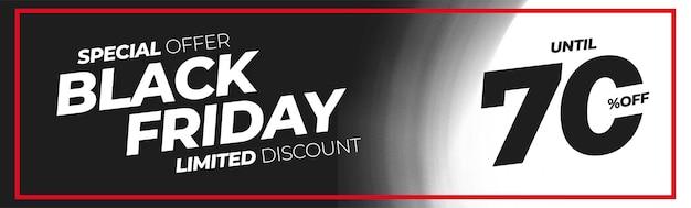 Fond de bannière de vente vendredi noir abstrait