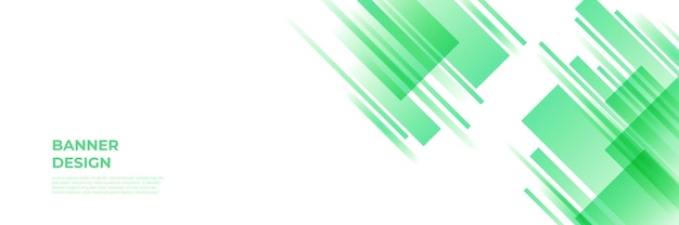 Fond de bannière verte moderne. modèle de fond de modèle de bannière de conception graphique abstraite de vecteur.