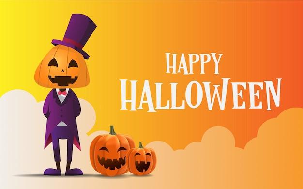 Fond de bannière de voeux halloween