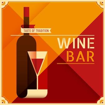 Fond de bar à vin