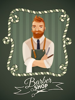 Fond de barbier