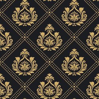 Fond baroque sans soudure de motif royal victorien. décoration de toile de fond