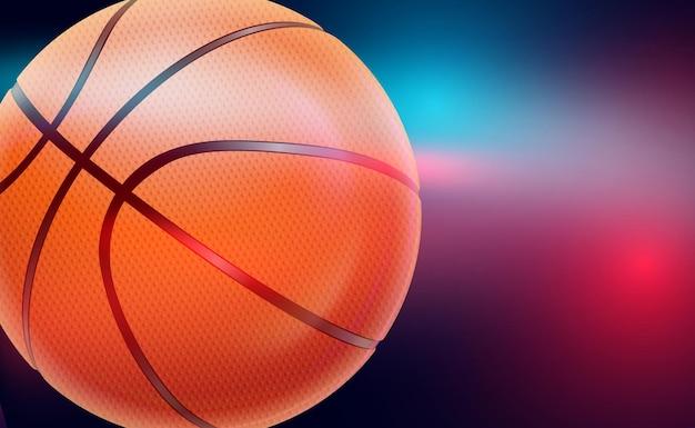 Fond de basket-ball. conception de vecteur moderne de thème de sport. bannière de tournoi et de championnat, affiche