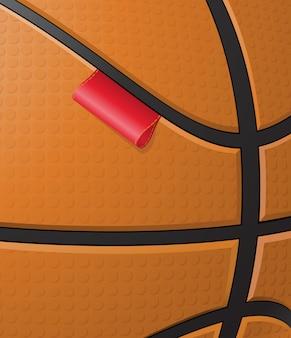 Fond de basket avec étiquette