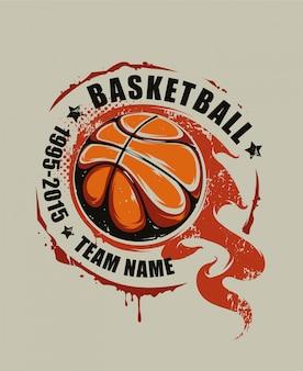 Fond de basketball dessiné à la main