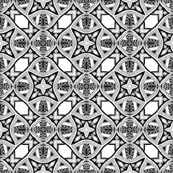 Fond de batik noir et blanc