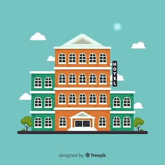 Fond de bâtiment hôtel plat