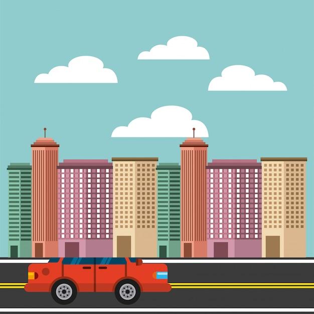 Fond de bâtiments bâtiments urbains