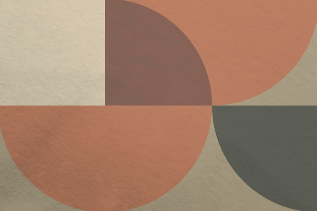 Fond de bauhaus, papier peint vecteur ton terre brune