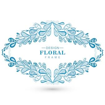 Fond de beau cadre décoratif floral