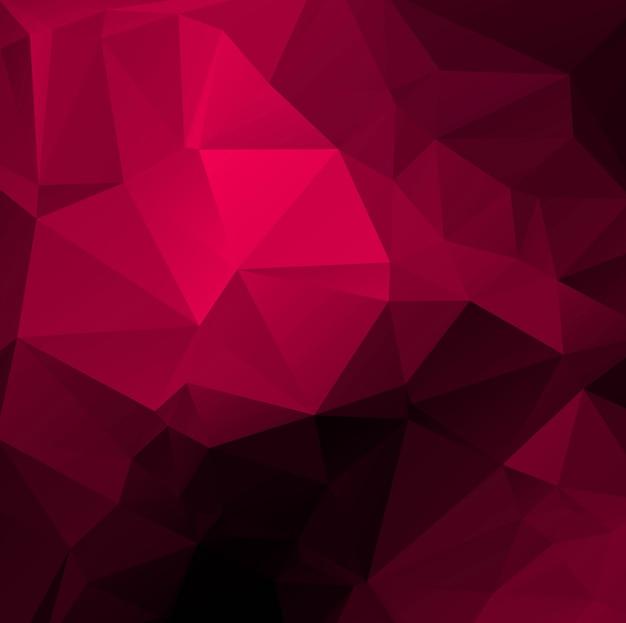 Fond de beau polygone rose