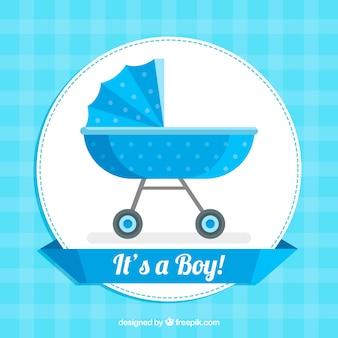 Fond de bébé garçon dans un style plat