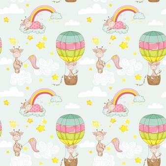 Fond de bébé girafe