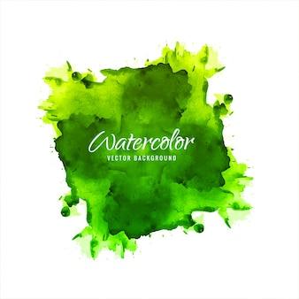 Fond de belle éclaboussure aquarelle verte