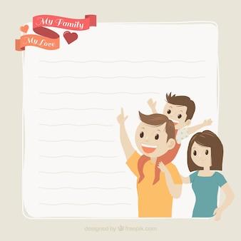 Fond belle famille avec la lettre
