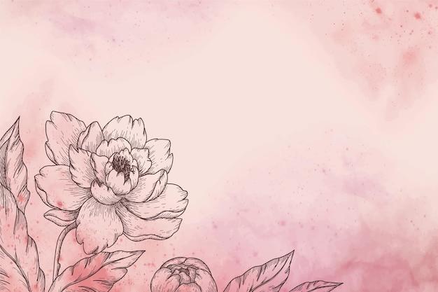Fond avec belle fleur
