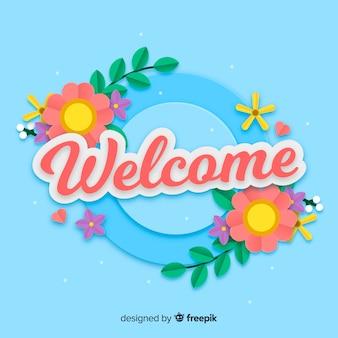 Fond de bienvenue