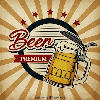 Fond de bière vintage