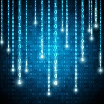 Fond binaire de style matrice avec nombre en baisse