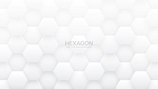 Fond blanc abstrait hexagonal