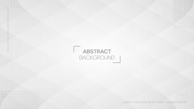 Fond blanc abstrait moderne avec style géométrique
