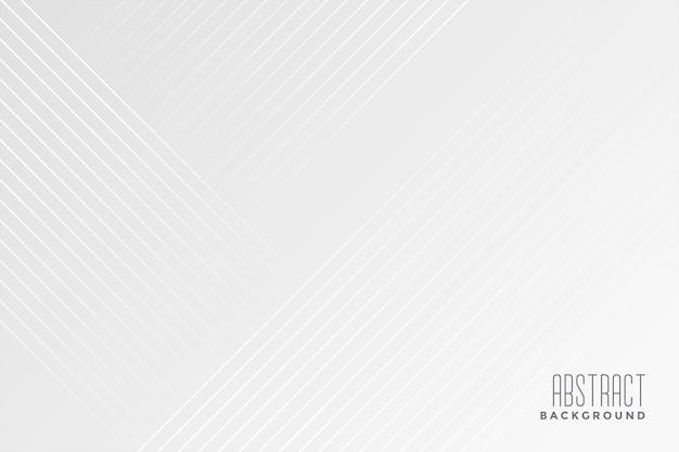 Fond blanc avec conception de lignes diagonales