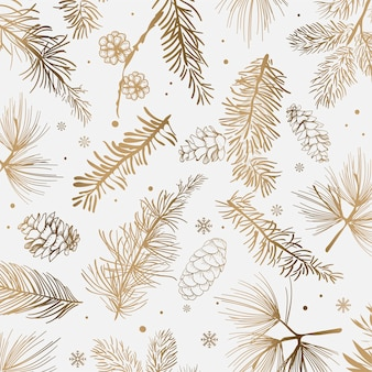 Fond blanc avec décoration d'hiver