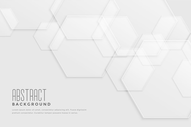 Fond blanc avec design hexagonal qui se chevauchent