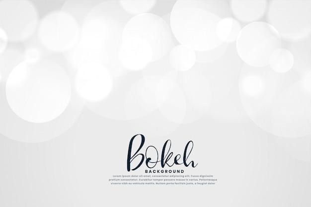 Fond blanc avec effet de lumière bokeh