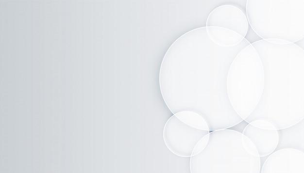 Fond blanc élégant avec des dessins de forme de cercles